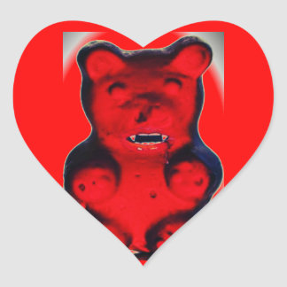 Giant Blood Sucking Candy Bear Heart Sticker