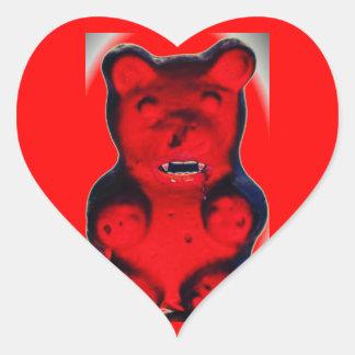 Giant Blood Sucking Candy Bear Heart Sticker