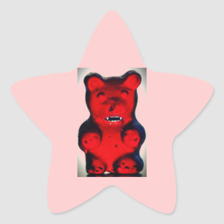 Giant Blood Sucking Candy Bear Star Sticker