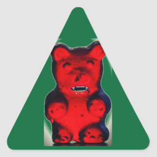 Giant Blood Sucking Candy Bear Triangle Sticker