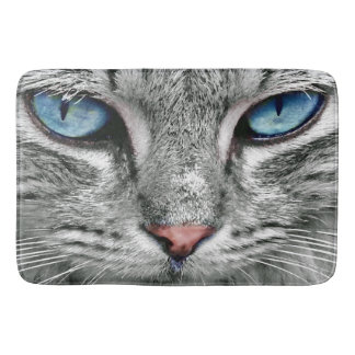 giant blue cat eyes bath mat