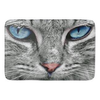 giant blue cat eyes bath mat