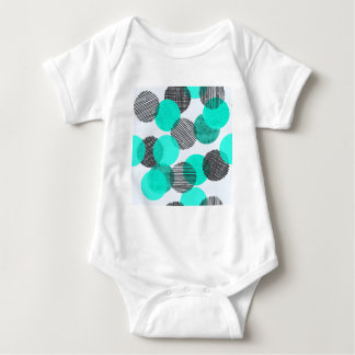 Giant Blue Dots Baby Bodysuit