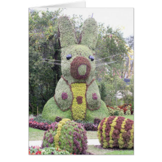 Giant Bunny topiary Card
