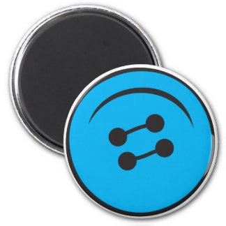 Giant Button 6 Cm Round Magnet