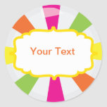 Giant Candy Party Buffet label Sticker