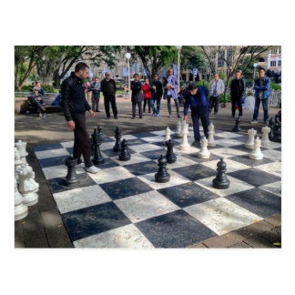 Giant Chessboard Postcard
