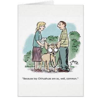 Giant chihuahua birthday card