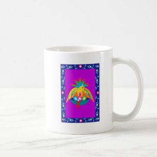 giant colorful bird coffee mug