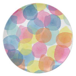 Giant Confetti Multi colour Melamine Plate
