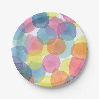Giant Confetti Multi colour Paper Plate 7 Inch Paper Plate