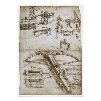 Giant Crossbow on Wheels, Leonardo da Vinci Poster