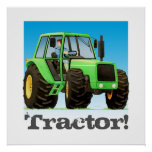 Giant Custom Kids Green Farm Tractor Poster