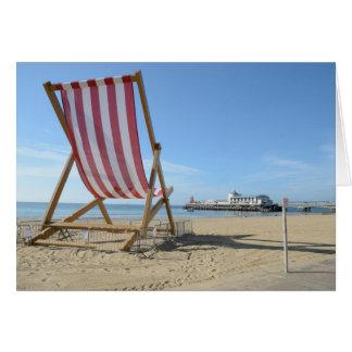 GIANT DECKCHAIR, BOURNEMOUTH BEACH, DORSET, UK CARD