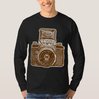 Giant East German Camera - Brown and White T Shirt