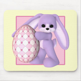 Giant Easter Egg and Bunny Mousepad