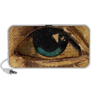 Giant Eye Eyeball Watching Sees You Vintage Art Notebook Speaker
