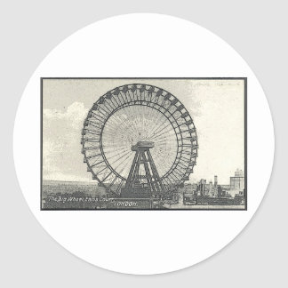 Giant Ferris Wheel LONDON Classic Round Sticker