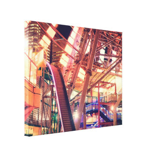 Giant Ferris Wheel Vintage Industrial City Urban Canvas Prints