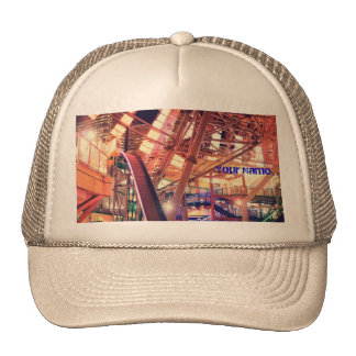 Giant Ferris Wheel Vintage Industrial City Urban Trucker Hat