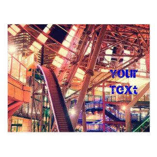 Giant Ferris Wheel Vintage Industrial City Urban Postcard