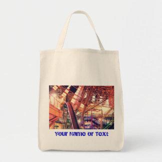 Giant Ferris Wheel Vintage Industrial City Urban Bag