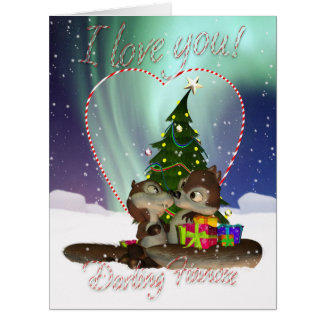 Giant Fiancee I Love You Christmas Card