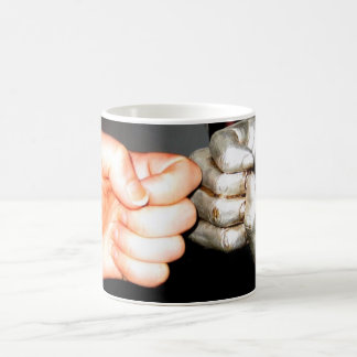 giant fist gold fist basic white mug