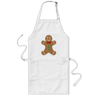 Giant Gingerbread Man Cookie Holiday Long Apron