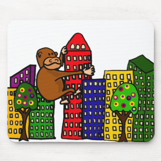 Giant Gorilla Hugging Tall Building Mouse Mat