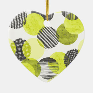 Giant Green Dots Christmas Ornament