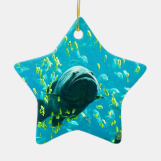 Giant Grouper freedom peace and calm Christmas Ornament