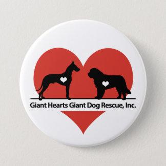 Giant Hearts Giant Dog Rescue Logo 7.5 Cm Round Badge