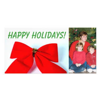 Giant Holiday Bow Photo Cards