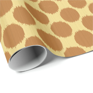 Giant Ikat Dots, mustard gold and chamois yellow Wrapping Paper
