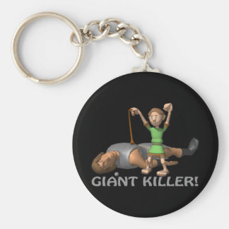 Giant Killer Basic Round Button Key Ring