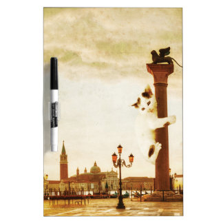 Giant Kitten in Venice Dry Erase Board
