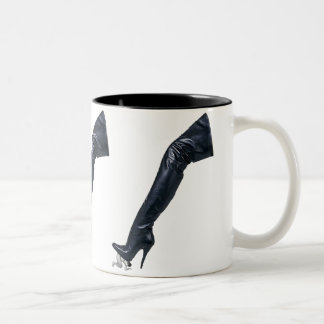 Giant Leather Thigh High Boot Tramples a slave Mug