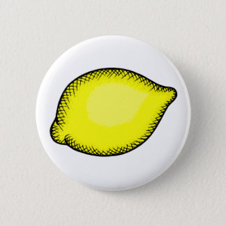 Giant Lemon 6 Cm Round Badge