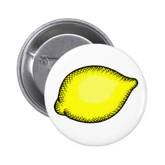 Giant Lemon 6 Cm Round Badge
