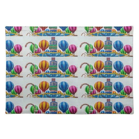 Giant lollipops placemat