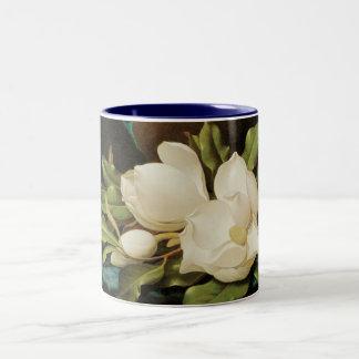 Giant Magnolias, Heade, Vintage Victorian Flowers Mug