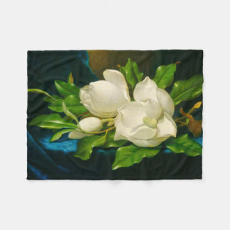 Giant Magnolias Martin Johnson Heade Fine Art Fleece Blanket