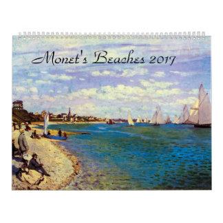 Giant Monets Beaches 2017 Art Calendar