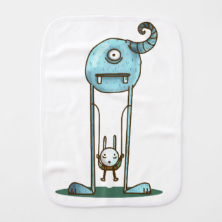 Giant monster baby burp cloth