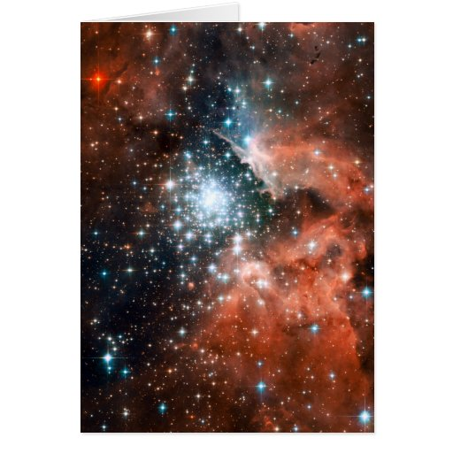 Giant Nebula Star Cluster Space Cards