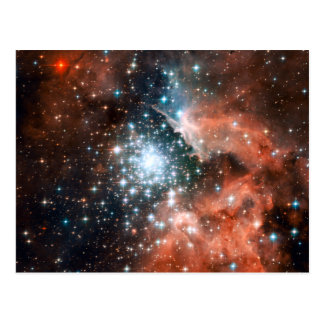 Giant Nebula Star Cluster Space Post Cards