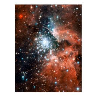 Giant Nebula Star Cluster Space Postcard