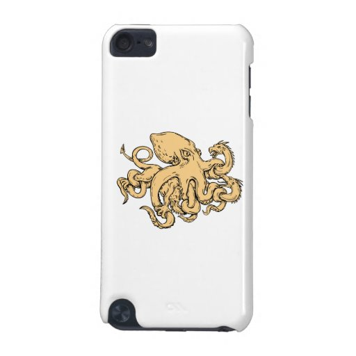 'Giant Octopus Fighting Hydra Drawing Ipod Touch (5th Generation) Case