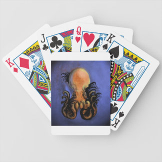 Giant Octopus or Kraken Bicycle Playing Cards